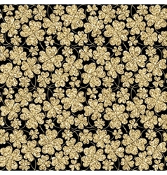 Trendy glitter gold and black seamless vector image vector image