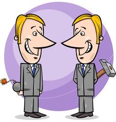 two false businessmen cartoon vector image