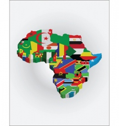 3d Africa map vector image vector image