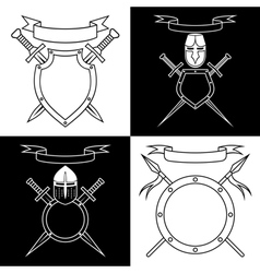 Contours of emblems vector image