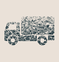 delivery truck icon isolated vector image
