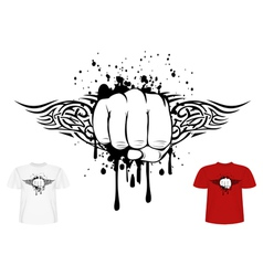 fist and tribal vector image vector image