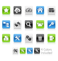 Hosting Icons Clean Series vector image