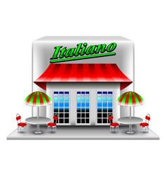 italian restaurant isolated on white vector image vector image