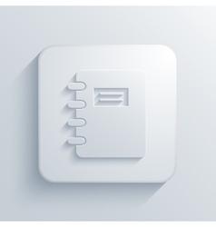 modern document light icon vector image