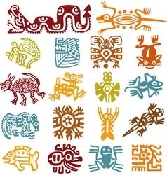 set - mexican symbols vector image vector image
