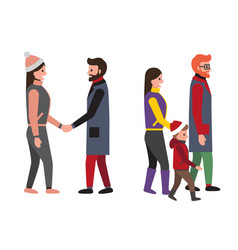 family and friends people set vector image