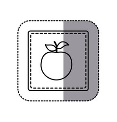 figure emblem apple fruit icon vector image vector image
