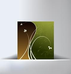 Floral Green Slit Background vector image