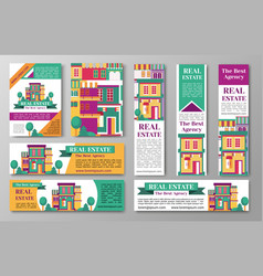 house estate and the bet agency flyers vector image vector image