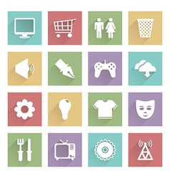 soft media icons set 2 vector image vector image
