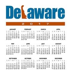 2017 Delaware calendar vector