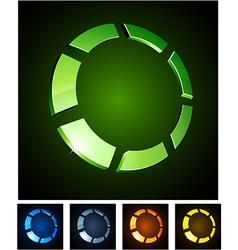 3d round emblems vector