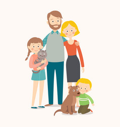 appy family with pets vector image