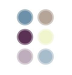 badges set six colors vector image
