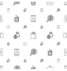 Bag icons pattern seamless white background vector
