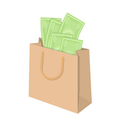 Bag with money e-commerce single icon in cartoon vector