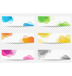 banner set with colorful blobs transparent vector image