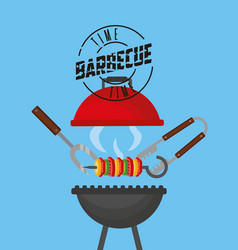 Barbecue grill relate vector