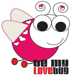 Be My Love Bug vector