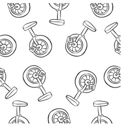 bike hand draw doodle style vector image