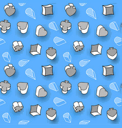 blue color seamless wallpaper with card symbols vector image
