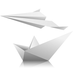 boat airplane vector image
