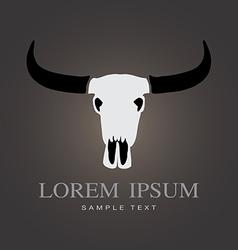 Buffalo skull vector image