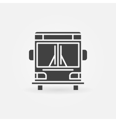 Bus icon or logo vector image