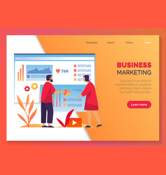 Business marketing company development management vector