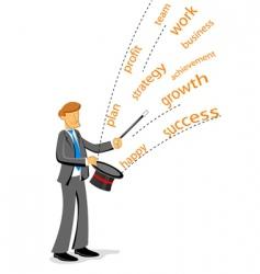 businessman showing magic vector image