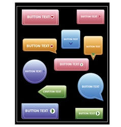 Button Pack in Various Shapes vector image