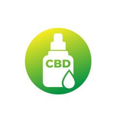 Cbd oil medicine icon vector