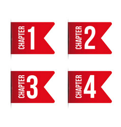 Chapter bookmark icon set vector