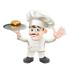 Cheeseburger chef vector