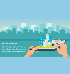 city project flat design vector image