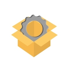 Cog gear box machine part icon graphic vector
