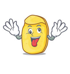 Crazy potato chips mascot cartoon vector