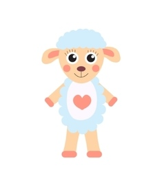 Cute cartoon character sheep Children s toy sheep vector image