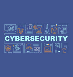 Cybersecurity data protection word concepts banner vector