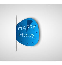 Deformed happy hour watch vector