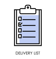 Delivery list isolated icon logistics and vector