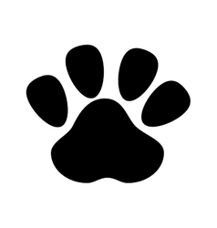 Dog footprint design vector