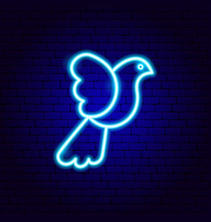 dove bird neon sign vector image