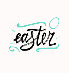 easter typographical background hand drawn vector image