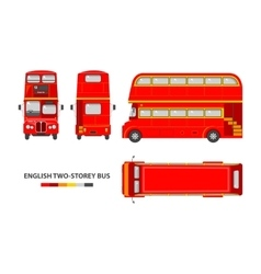 English red double decker bus vector image