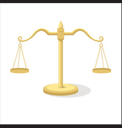 equilibrium scales cartoon vector image
