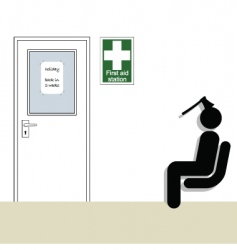 first aid station vector image