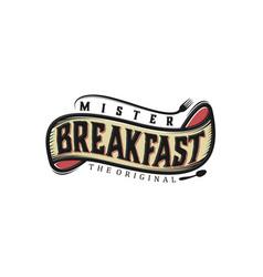 Food drink logo design - vintage style restaurant vector