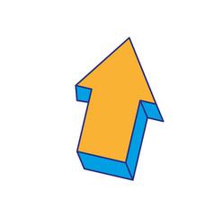 full color creative arrow design grapphic element vector image